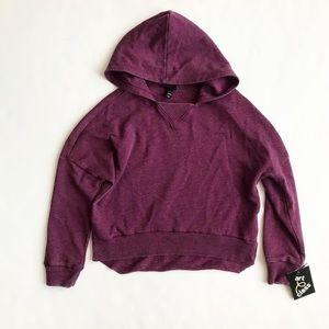 Artclass NWT purple hooded light sweatshirt S-6/6X